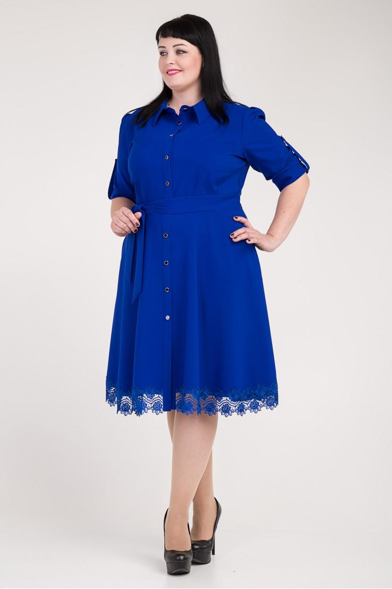 5094064c4c1bf2c Купить нарядное синее платье большого размера VN33301 с пуговицами ...