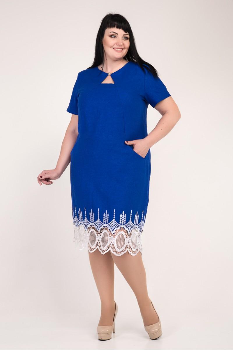 d43d12f794b2ea2 Купити нарядне синє плаття великого розміру VN33501 з мереживом від ...