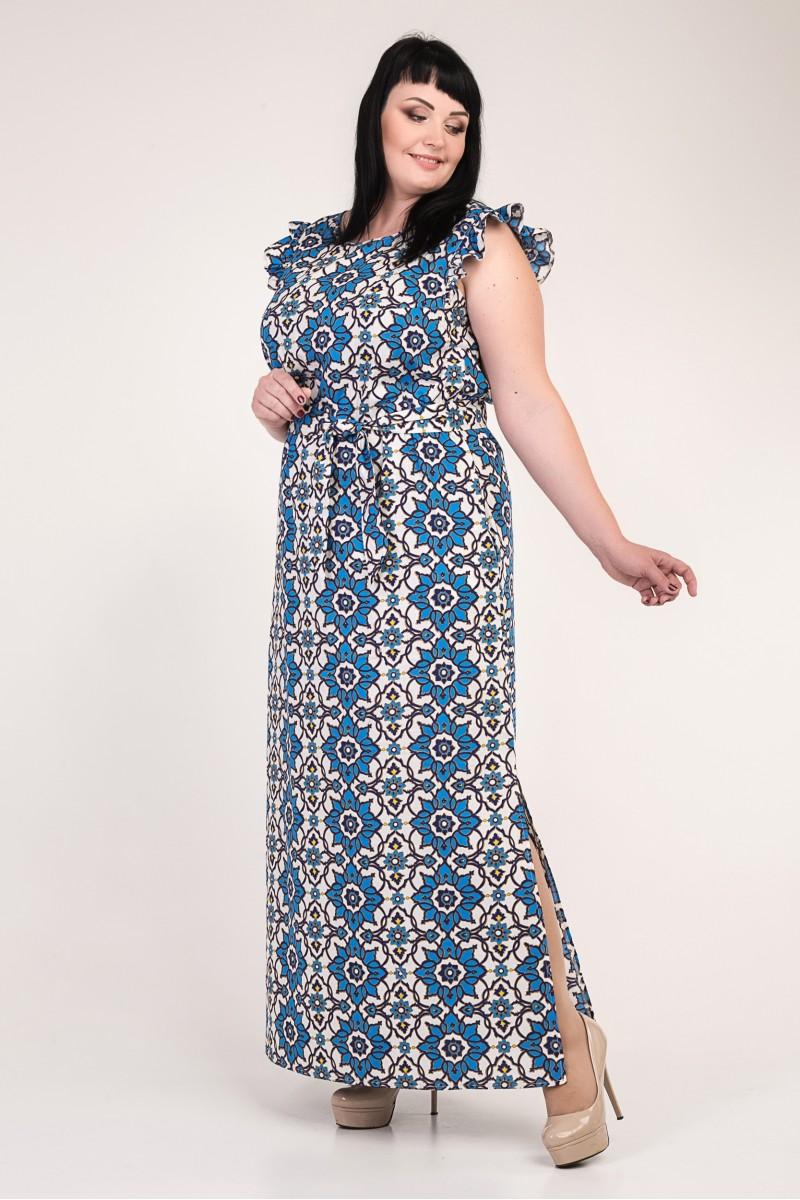 482be051af1b39 Купити красиве літнє плаття великого розміру VN33701 з блакитними ...