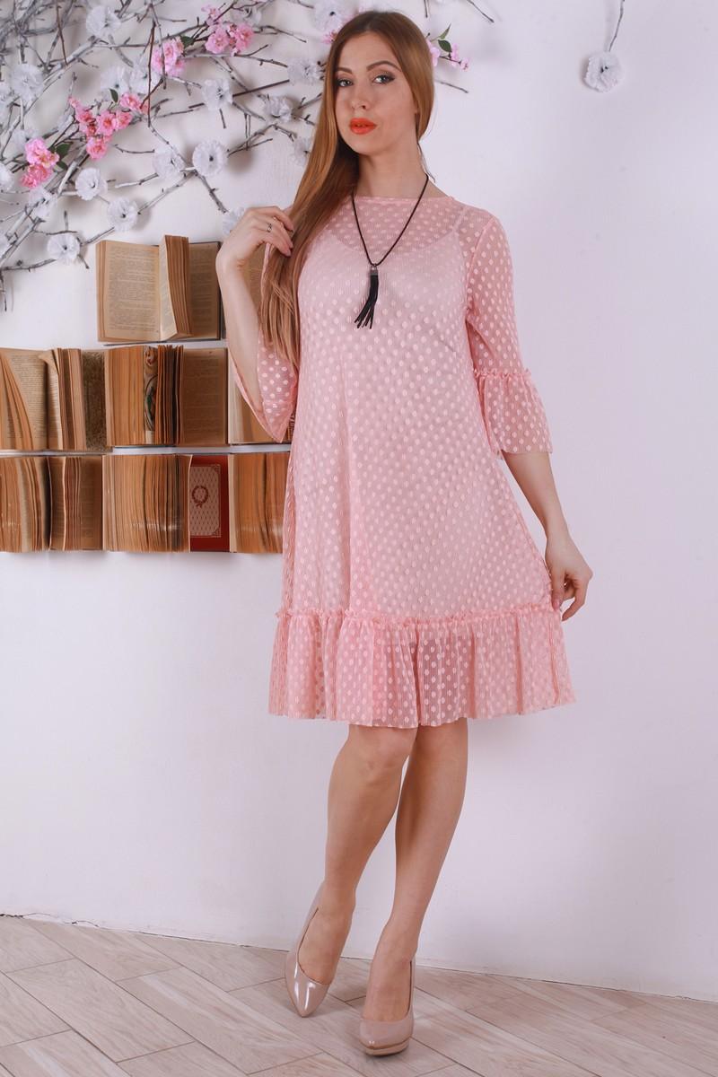 Купити стильне рожеве плаття з сіткою YM31807 недорого з доставкою у ... 4124633cd11ae