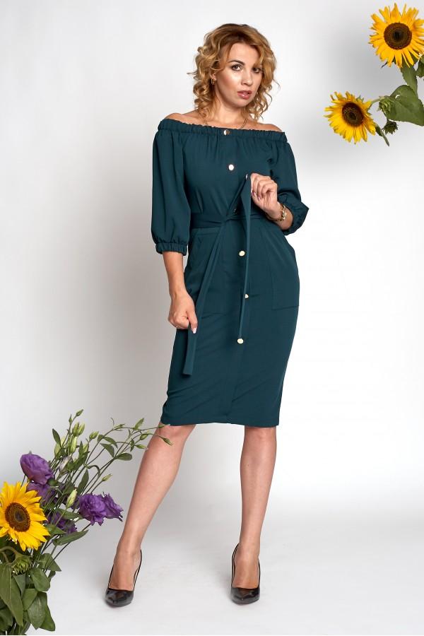 Платье Элла А2 EM685802 зеленого цвета