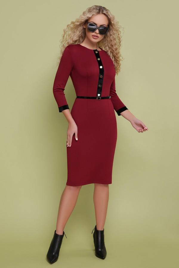 Ділове плаття Ванесса GL702701 бордового кольору