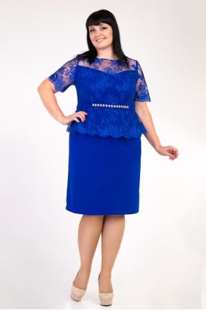 Сукня синя Маріам великих розмірів VN34901