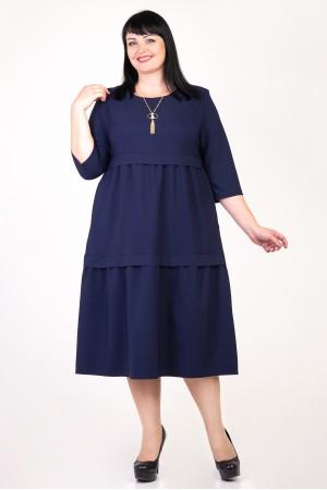 Святкове темно-синє плаття Селін VN35801 великі розміри