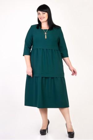 Святкове зелене плаття Селін VN35803 великі розміри