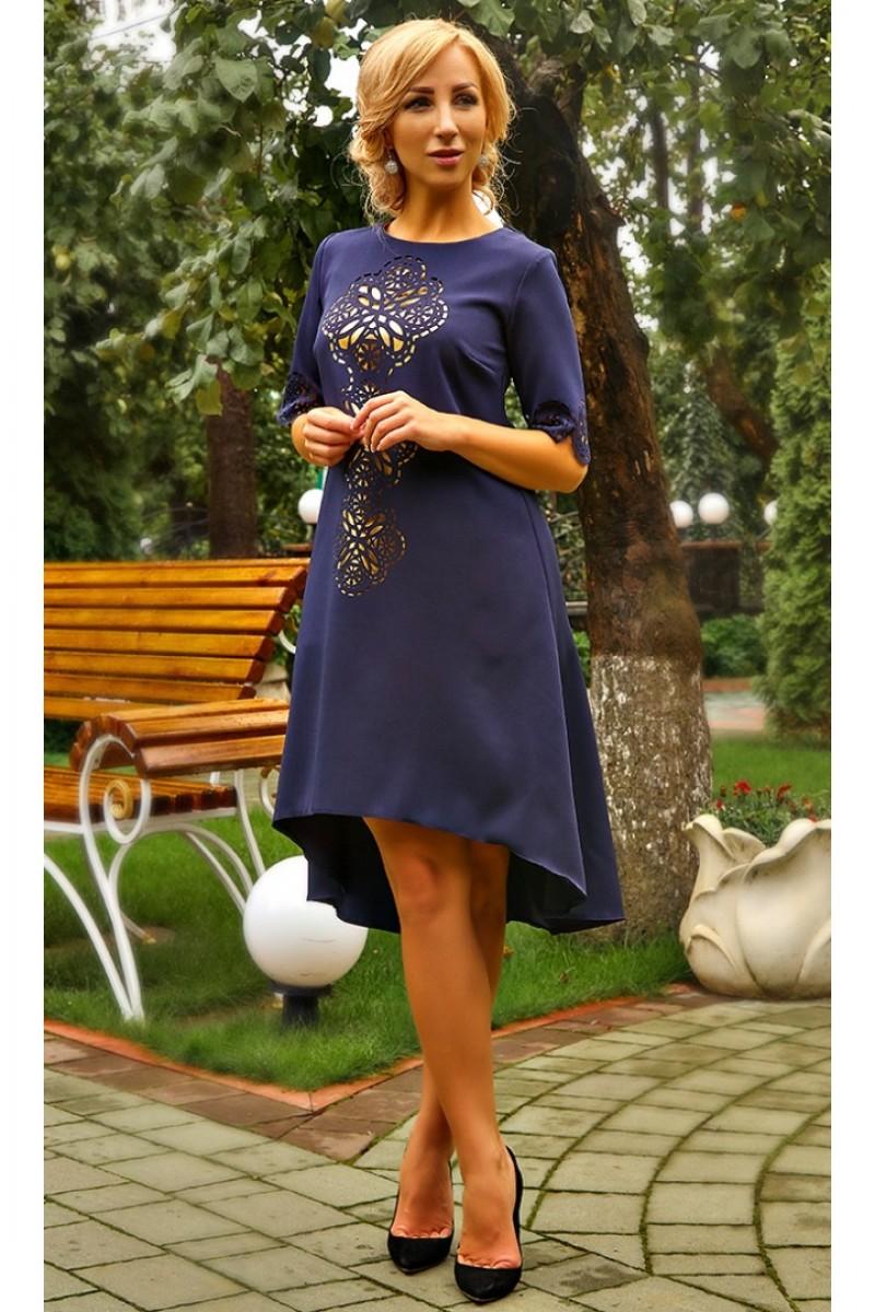 3b2ef7a0ad7a98 Купити святкове плаття Елмаз AD678101 темно-синього кольору недорого ...