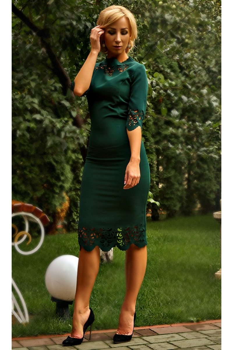 b9bb0a178a9155 Купити елегантне плаття AD677201 смарагдового кольору недорого з ...
