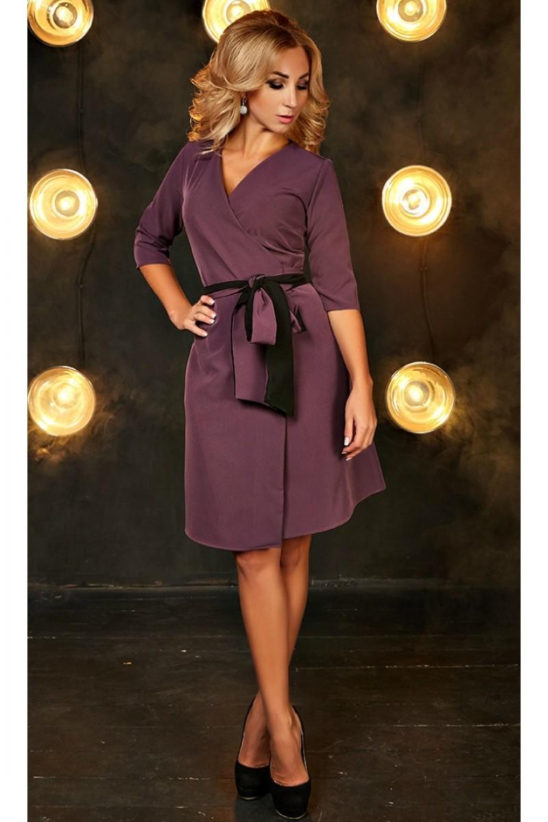 Купити плаття на запах Бейліс AD700301 лілового кольору від ... 11ead533d4103