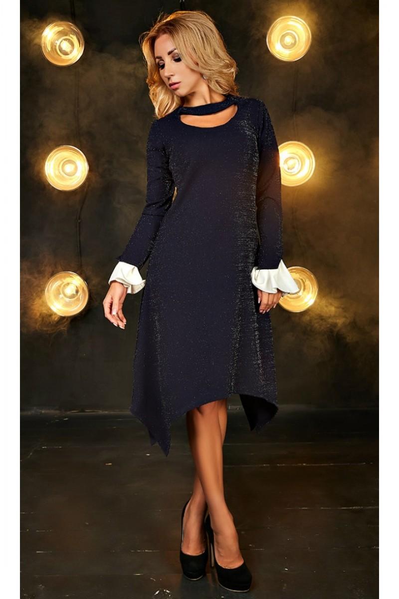 5f594579406b48 Купити трикотажне осіннє плаття Алсу AD700001 синього кольору від ...