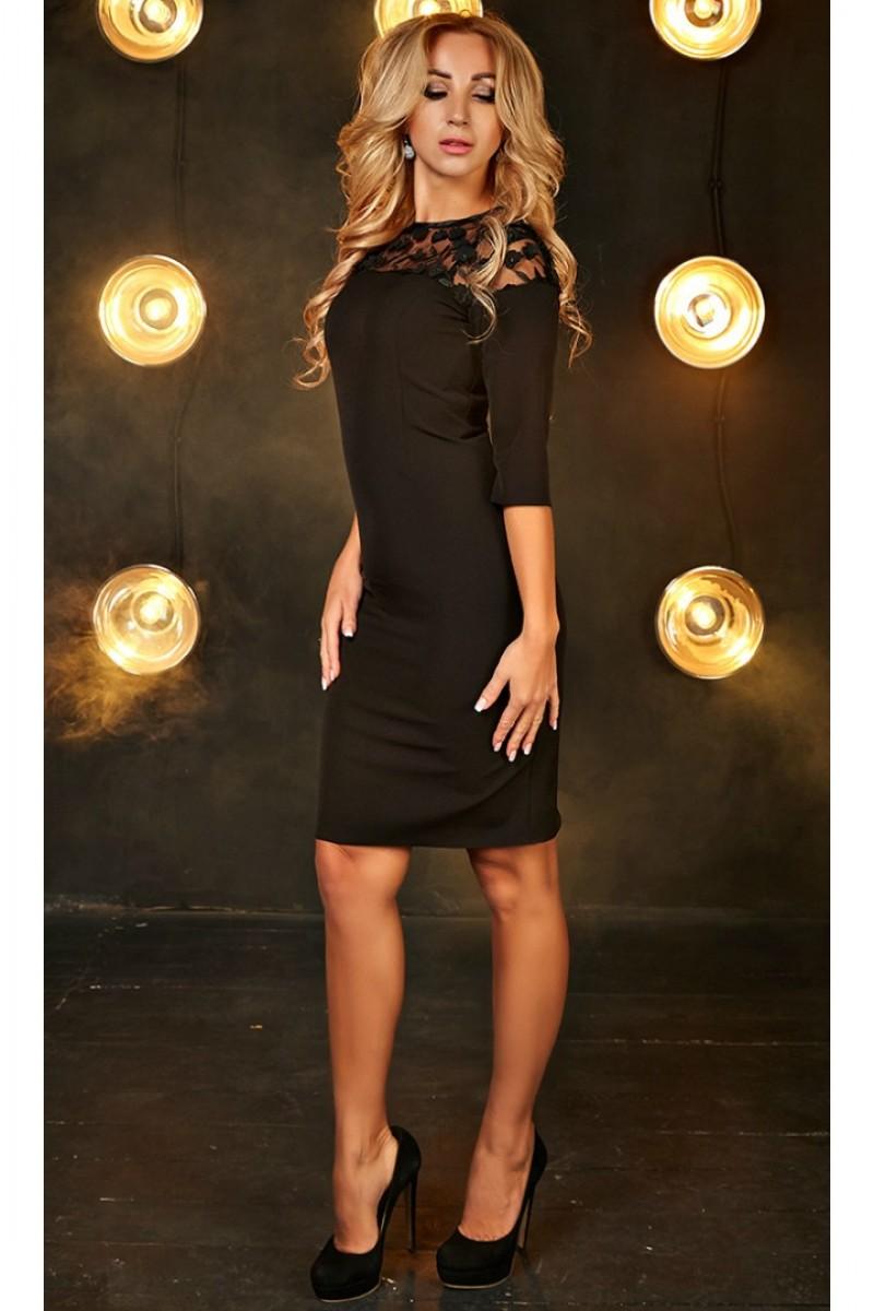 Купити коктейльне плаття Сабріна AD699901 чорного кольору від ... 55fc81ee7fb53