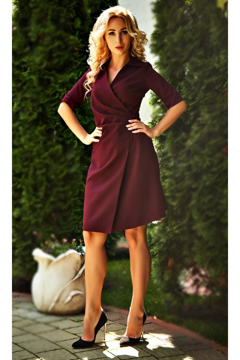 e120b62ee138fe Купити вишукане плаття Бейліс AD682203 кольору марсала від виробника ...