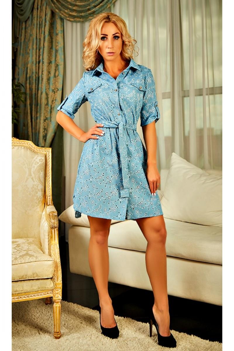 a70d37f0152900 Купити красиве блакитне плаття Меліна AD23401 з квітами від ...