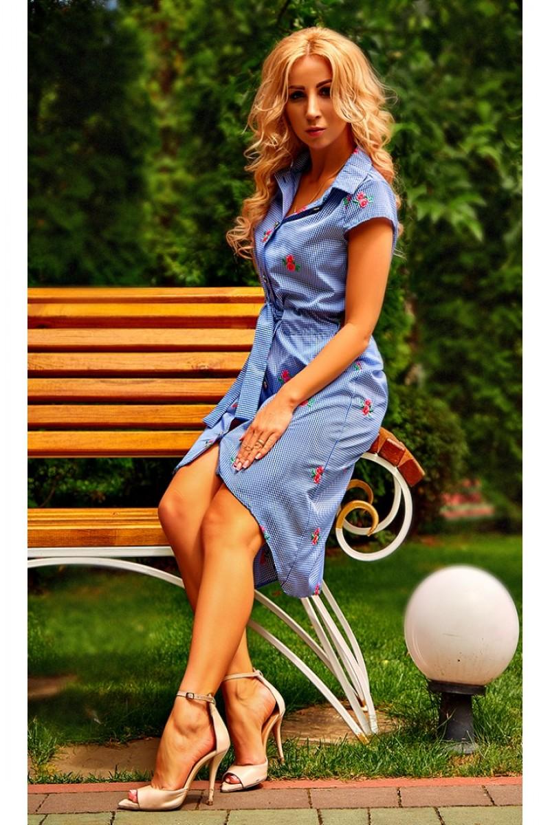 Купить платье-рубашка Белла AD24002 расцветка клеточка цвета ... 857d1622abc