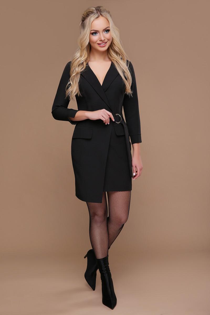 cff9cc88b8d9110 Купить черное осеннее платье Полина GL698201 с пояском с доставкой в ...