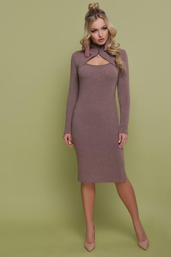 Вечернее платье Альбина GL703101 бежевого цвета