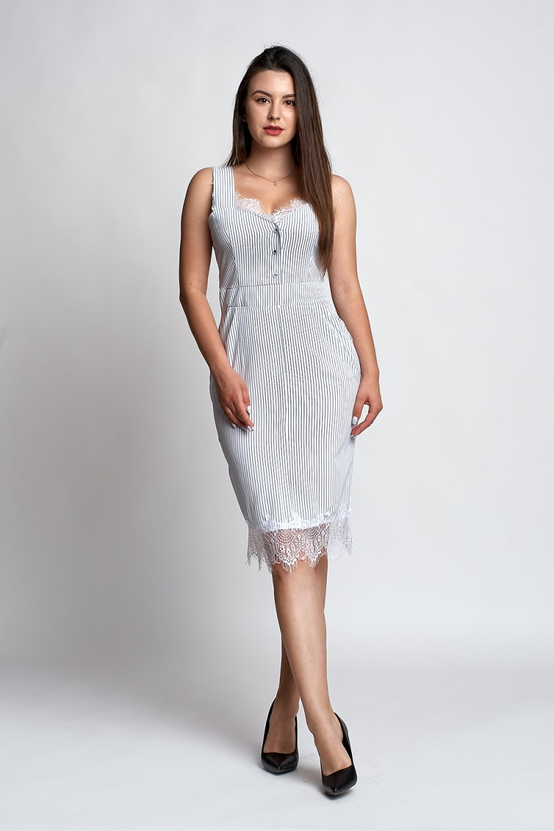 1ff5912f0db Купить красивое летнее платье Мика А1 EM032201 белая полоска от ...