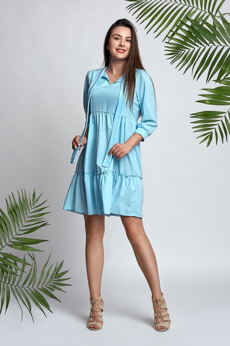 ce8418eecd3e79 Купити Плаття блакитне Сандра А3 EM033303 з квітами недорого від ...