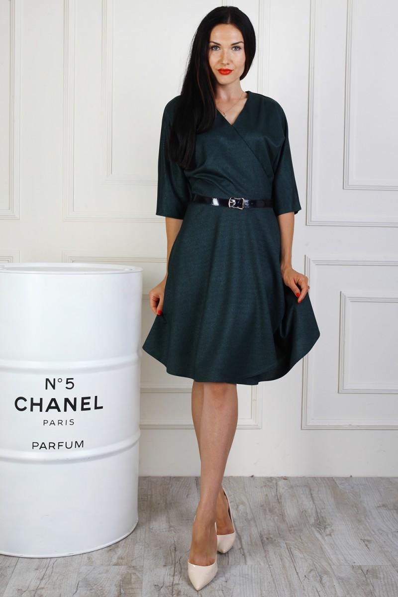 Купить элегантное платье AL71702 тёмно-зелёного цвета недорого от ... bf697d0b013