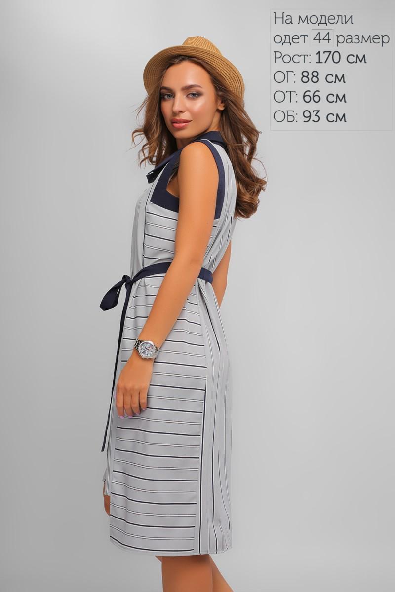 a01d1397a7c201f Купить летнее повседневное серое платье LP327402 в полоску от ...