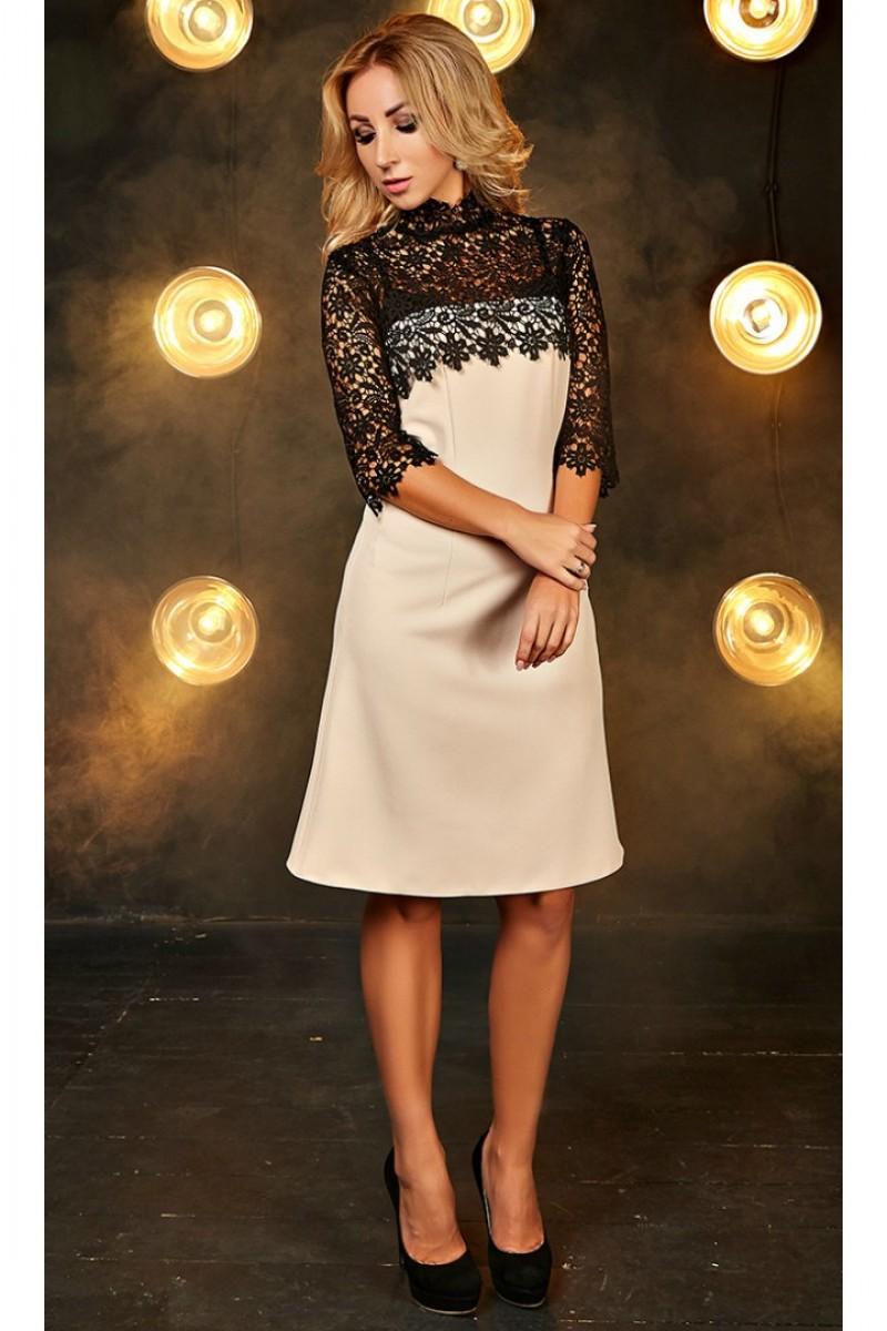 Купити плаття-трапеція Мелані AD701101 кольору пудри від виробника з ... 0838a6f2d5ec0