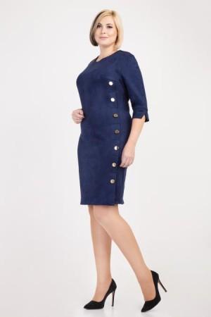 Стильное платье большого размера 2018 VN31801 синего цвета