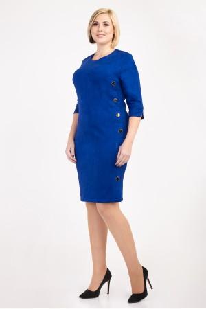 Стильное платье большого размера 2018 VN31802  цвета электрик
