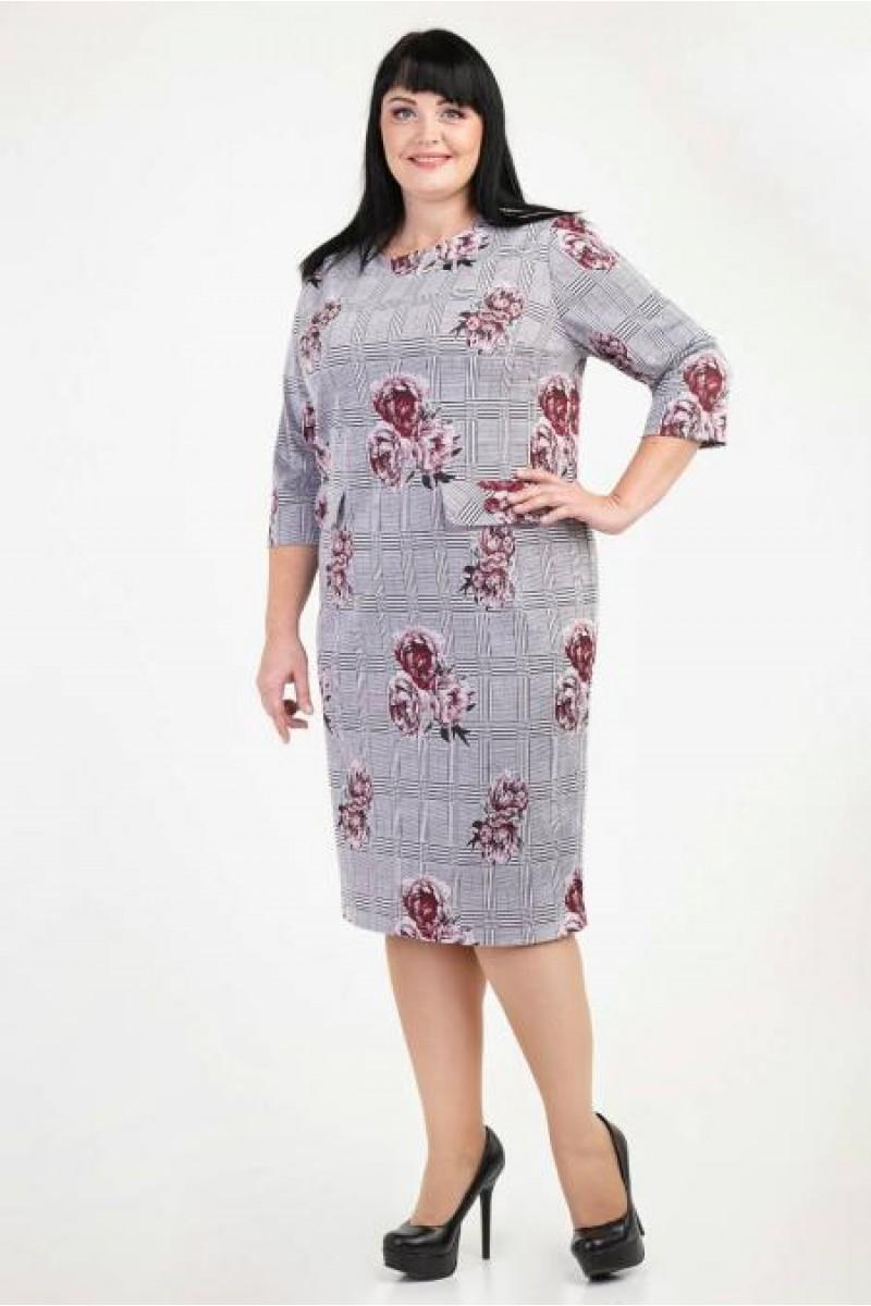Купити недорого плаття великих розмірів VN36202 бордового кольору ... 562d5c72f263c