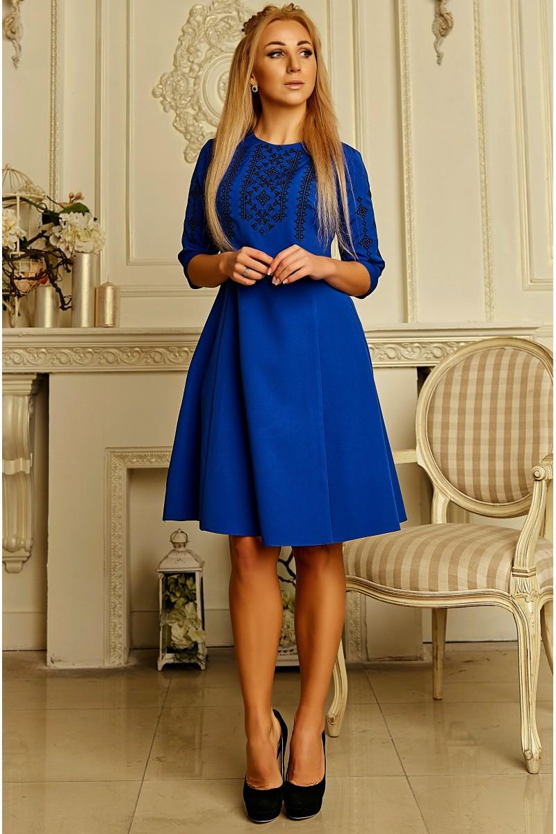 8b56ea5b01738a Купити осіннє плаття з вишивкою, жіночне плаття