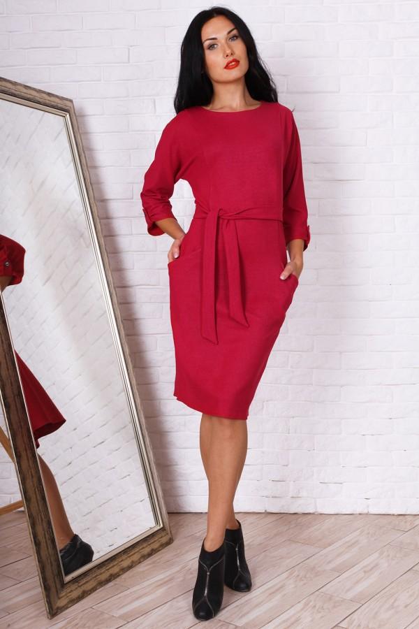 Зручне осіннє плаття AL73404 колір фуксія