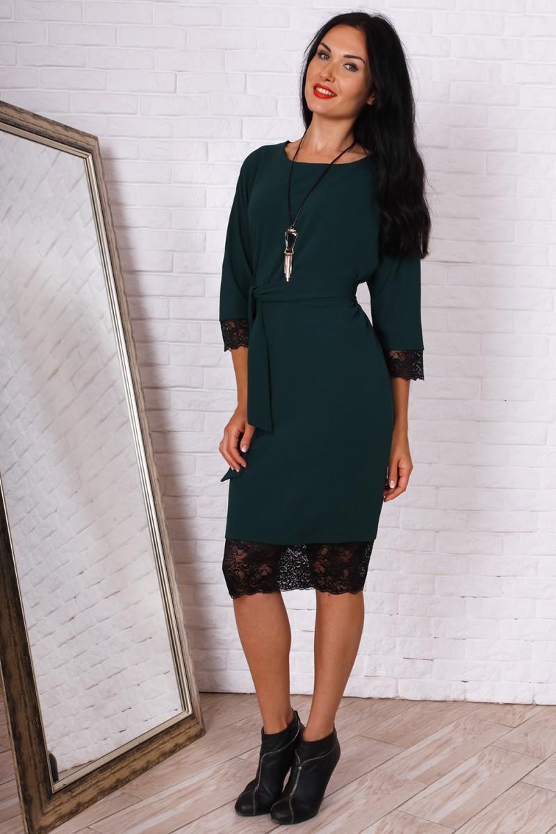 Купити осіннє плаття великого розміру AL73502 колір зелений недорого ... a3247302b76ff