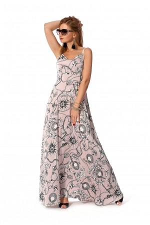 Плаття 2019 довге  рожеве SF115901