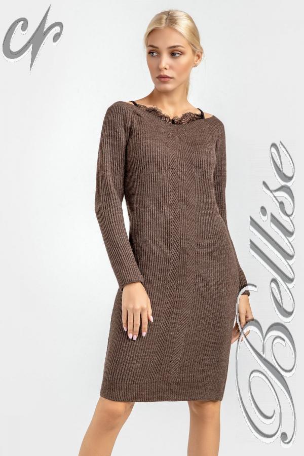 В'язане плаття 2018 TB185002 Bellise  коричневий