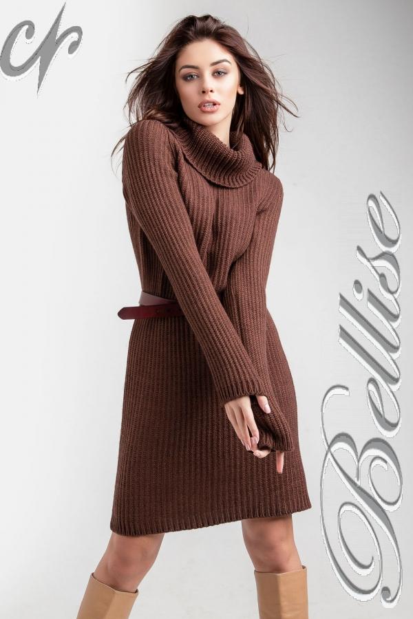 В'язане плаття-світер 2018 TB188502 Bellise  коричневий