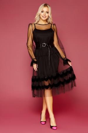 Шикарне плаття Маріям GL843501 чорного кольору