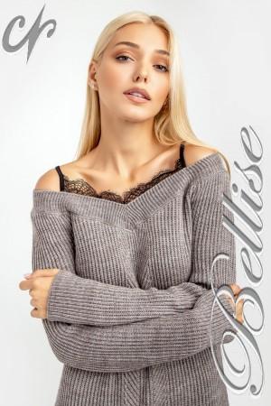 В'язане плаття 2018 TB185001 Bellise  сірий