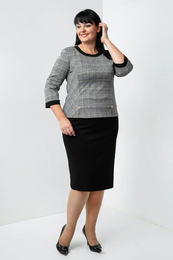Осінній костюм Уїтні VN35905 чорно-білий