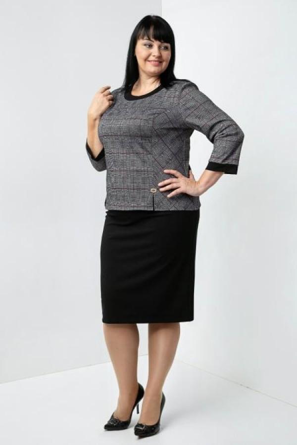 Осінній костюм Уїтні VN35906 чорно-білий