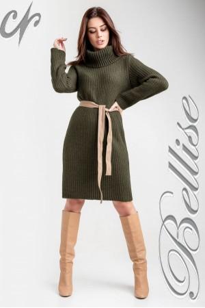 В'язане плаття 2018 TB188501 Bellise  хакі