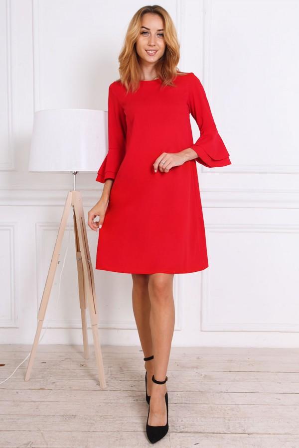 Осіннє плаття AL81501 червоне