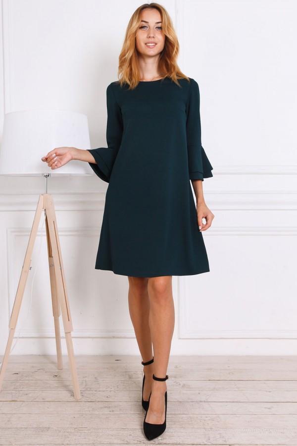 Осіннє плаття AL81502 зелене