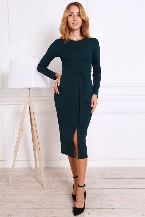 Осіннє плаття AL81601 зелене
