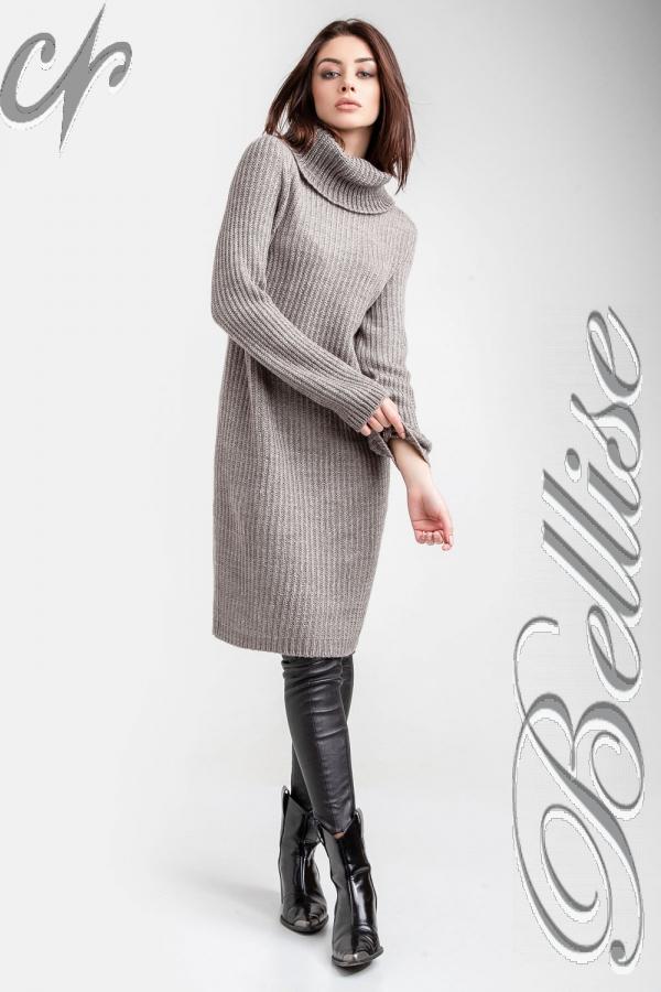 В'язане плаття 2018 TB188503 Bellise  сірий