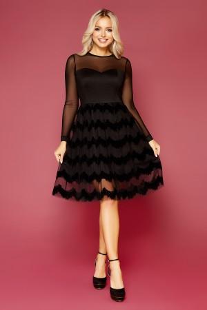 Шикарне плаття Аліна GL843401 чорного кольору