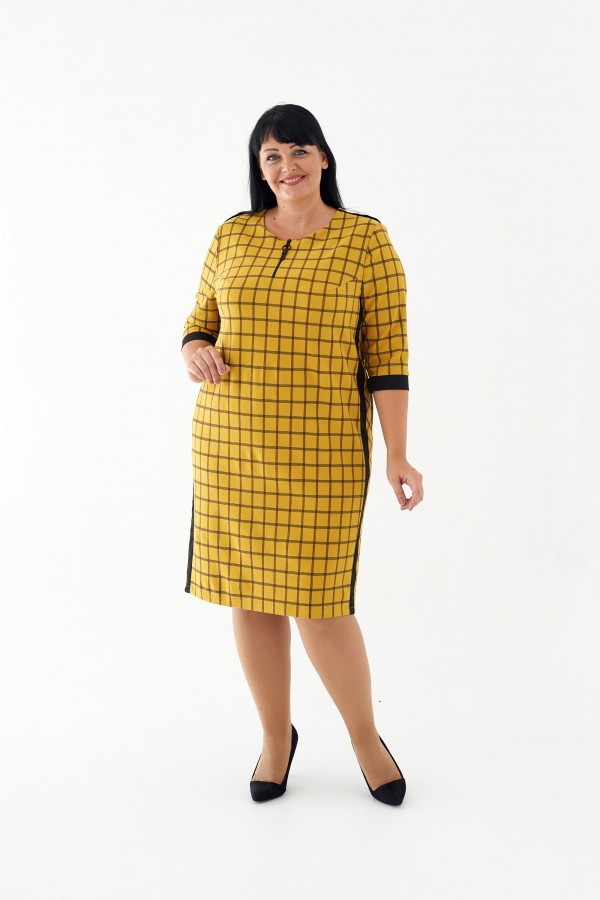 Плаття Лора М449-01 жовтий