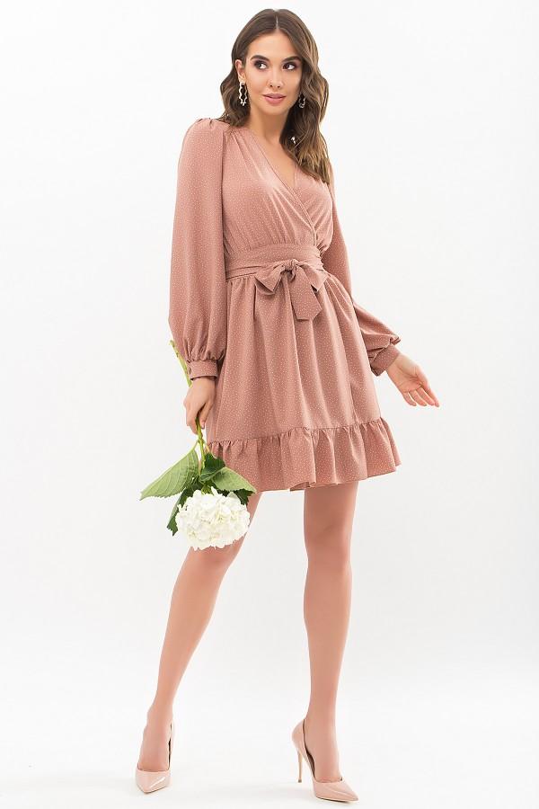 Нарядное весеннее  платье Иден GL67465 капучино