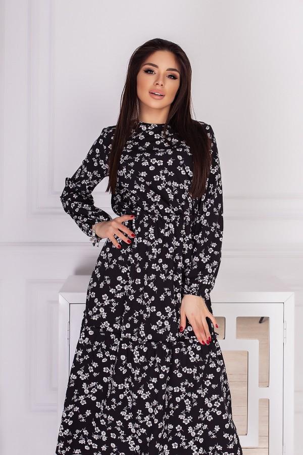 Чарівна весняна сукня  AL85501 чорний