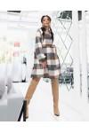 Плаття  тепле велика клітинка осінь-зима 2021  AL88603 мокко