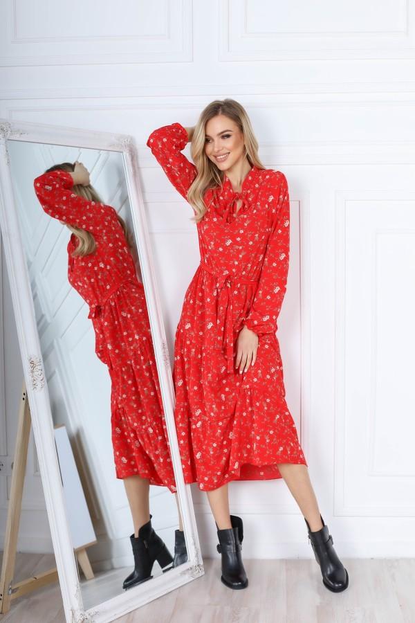 Чарівна весняна сукня  AL85601 червоне
