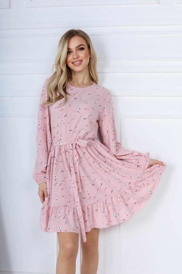 Трендова весняна сукня  AL85703 пудра