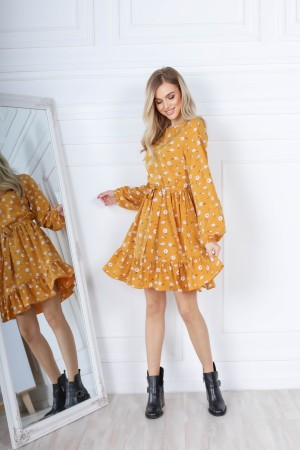 Чарівна весняна сукня  AL85701 гірчиця